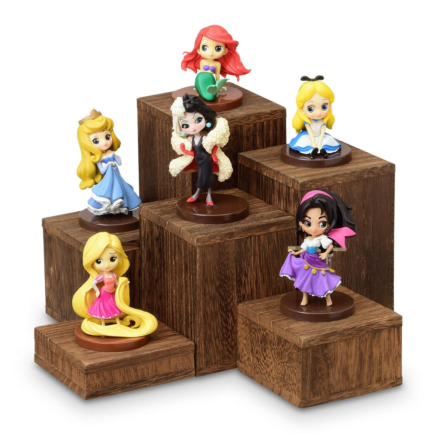 wooden 6 pcs square risers for display