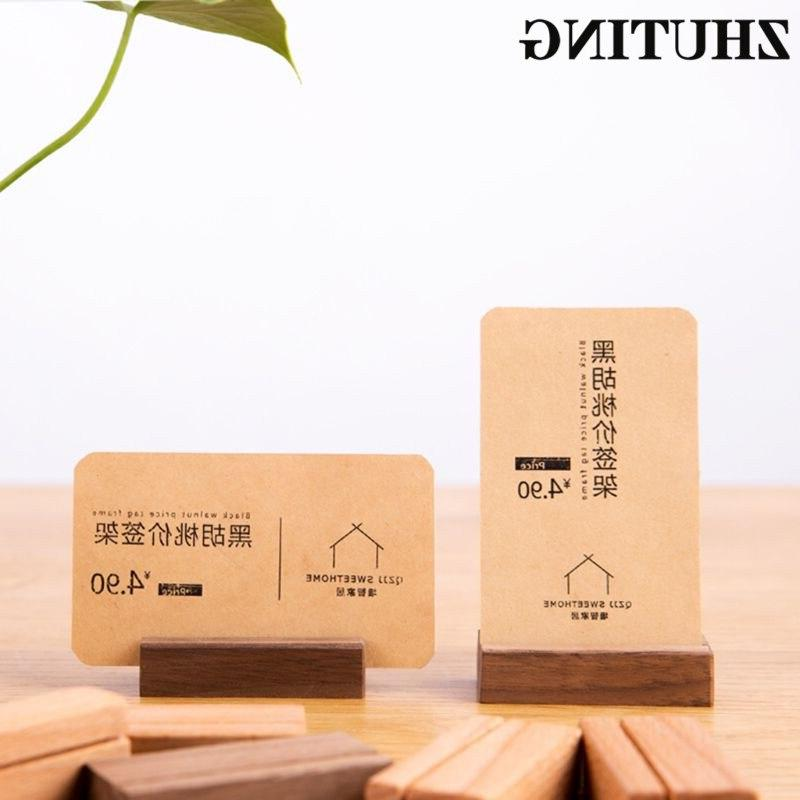 Wooden Numbers Photo <font><b>Display</b></font> <font><b>Stand</b></font> Name Office Desk Card Holder