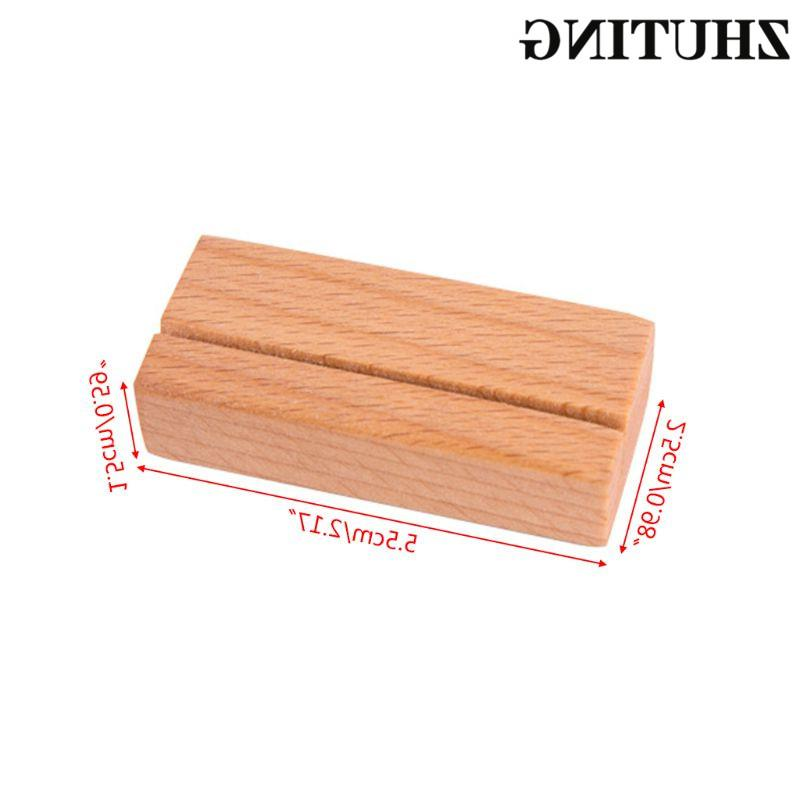 Wooden Numbers <font><b>Stand</b></font> Name Memo Clips Card