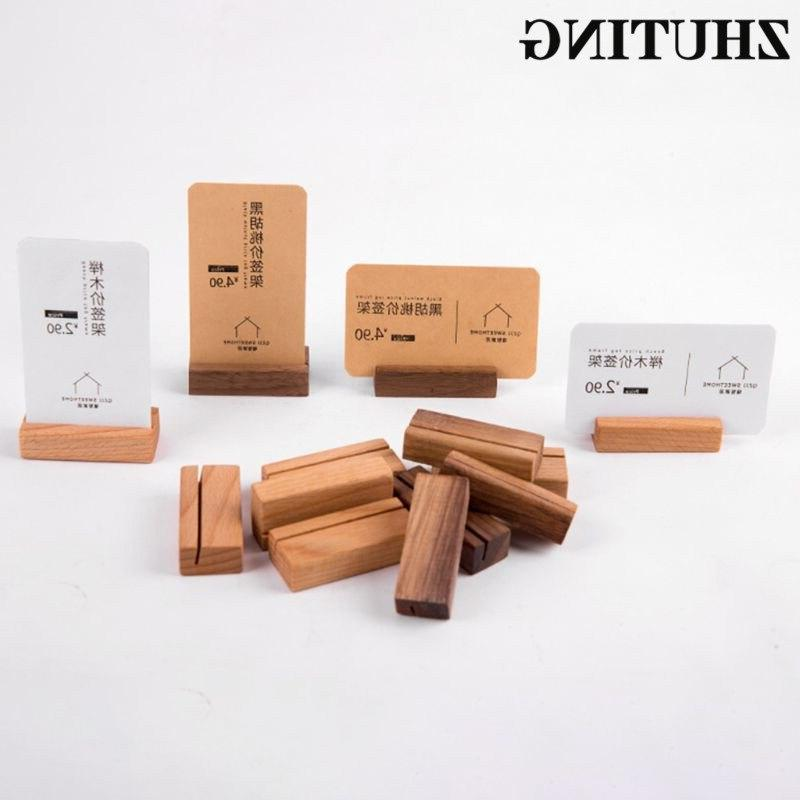 Wooden Numbers <font><b>Stand</b></font> Name Office Desk Card Holder