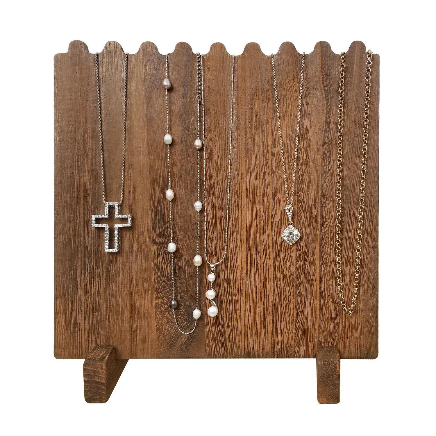 Wooden Necklace Display Necklaces, Brown