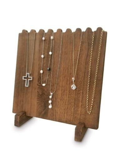 Wooden Plank Jewelry Necklaces, Brown