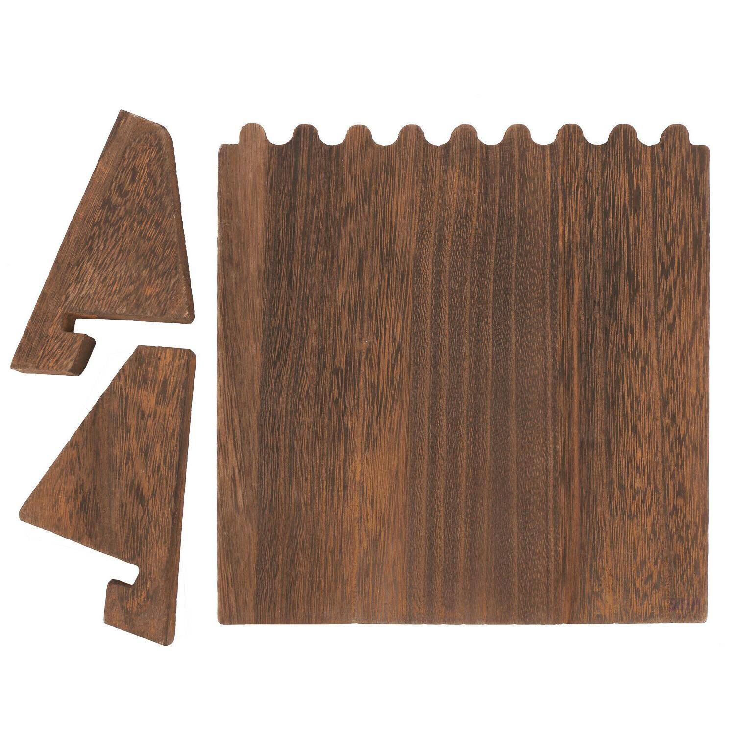 Wooden Plank Necklace Display for Necklaces, Brown Color