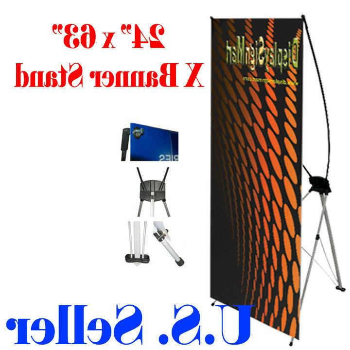 x banner stand 24 x 63 w