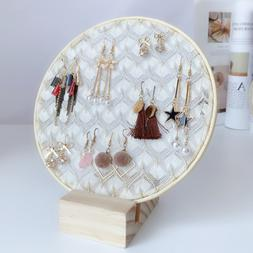 Fashion Jewelry Display Stand Lace Desktop Earrings Showing