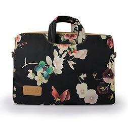15.6 Inch Laptop Sleeve Case Cover With Flower Pattern , 15.