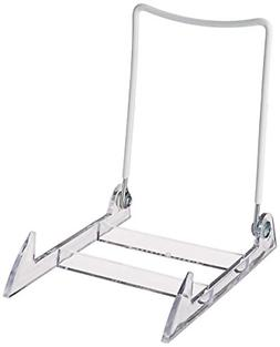 Gibson Holders Large Display Stand Clear Base/White Wire, Pa