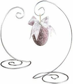 Tripar Large Durable Silver Spiral Ornament Display Stand fo