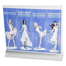 Clear-Ad - LHB-1185 - Double Sided Acrylic Upright Sign Hold
