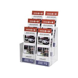 Clear-Ad - LHF-S106 - Acrylic 3 Tier 6-Pocket Brochure Holde