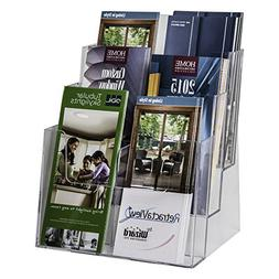 Clear-Ad - LHF-S83 - Acrylic 3 Tier 6 Pocket Brochure Holder