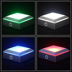 LED Light Base Show Stand Display Plate with Sensitive Touch