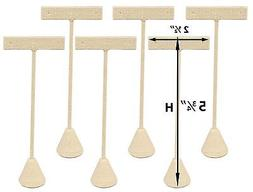 6-Pack Linen Earring T Stand Display T Shape Showroom and Tr