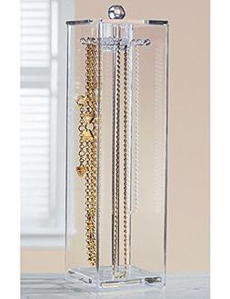 Huang Acrylic Jewelry Necklaces Stand Holder and Organizer f