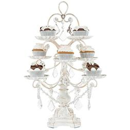 Madeleine Collection Antique White Washed 12-Piece Cupcake S