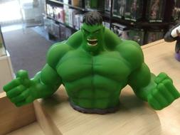 Marvel Incredible Hulk green Bust Toy Figure Piggy Bank Coin
