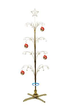 HOHIYA Metal Ornament Display Tree Rotating Stand Christmas