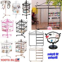 Metal Earring Necklace Jewelry Display Stand Holder Show Rac
