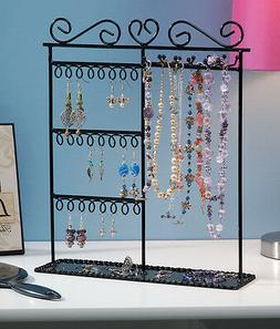 Darice Metal Jewelry Display Stand 12 X 3.5 X 14 Inches Blac
