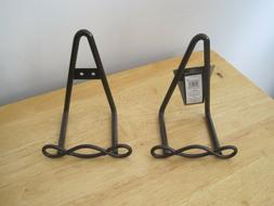 Small Metal Loop Easel-Dark Brown