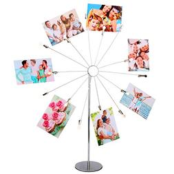 Kufox Metal Sunflower Style 14 Branches Clip Photo Display S