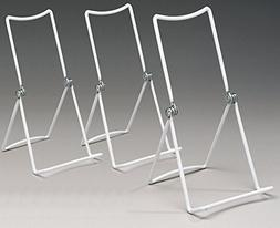 Metal Wire Easels White Vinyl Coated Display Plate Stand Hol