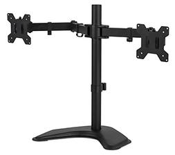 Mount-It! Dual Monitor Desk Stand LCD Mount, Adjustable, Fre