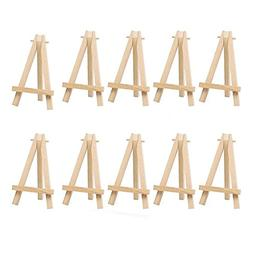 10pcs Mini Wooden Artist Easel Triangle Cards Stand Display