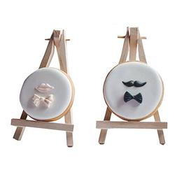 SK 12pcs Mini Wooden Easels Display Stand Photo Painting Dis
