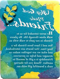 Miniature Easel Print with Magnet: Why God Made Friends, 3.6