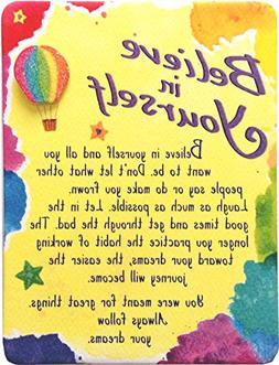 """Miniature Easel Print with Magnet: Believe in Yourself, 3.6"""""""