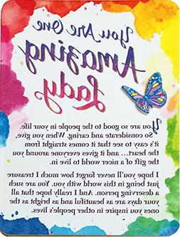 Miniature Easel Print with Magnet: You Are One Amazing Lady,