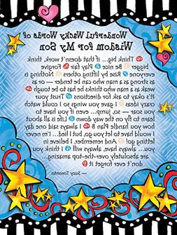 Miniature Easel Print with Magnet: Wonderful Wacky Words of