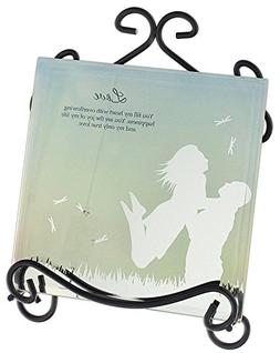 "DCC 6"" Mirrored Wall Plaque with Easel Stand Love"