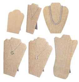 modern burlap necklace display necklace easels jewelry
