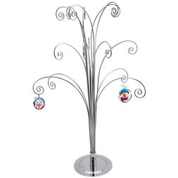 "Ornament Display Stand Tree Holder Hangers Hook 20""H Silver"