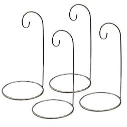 Ornament Display Stands - Set of 4 Silver Ornament Hangers -