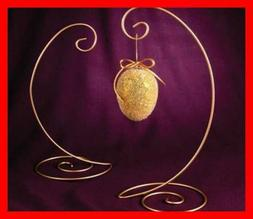 Ornament Stand GOLD LARGE Spiral Bottom CHRISTMAS ORNAMENTS
