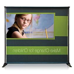 Personalized Jumbo Banner Black Large Tube 7'x7'' Graphic Pa