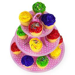 Pudgy Pedro's Pink 3 Tier Cupcake Stand Party Supplies , 14