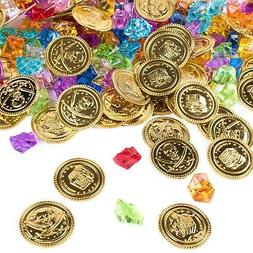 Super Z Outlet Pirate Gold Coins Buried Treasure and Pirate