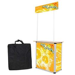 Popup Promotion Counter Table Booth Aluminum Frame Demo Disp