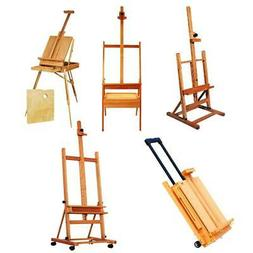 Portable Wooden French Easel PaintBox Tripod Stand w/ Displa