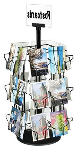 Post Card Display Stand With 24 Pockets For Countertop Use,