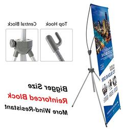 T-Sign Reinforced Block Adjustable Tripod X Banner Stand Fit