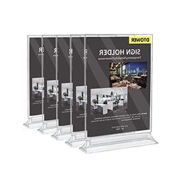 Restaurant Menu Holder Sign Holder Double Sided Clear Plasti
