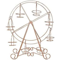 Rose Gold Ferris Wheel Cake Display Stand Stainless Steel We