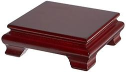 Oriental Furniture Rosewood Square Base Stand - 3 in.