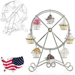 8-Cup Rotating Ferris Wheel Stand Candy Cupcake Display Stan