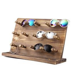 Rustic Burnt Wood Retail Jewelry Display Stand, Sunglasses &